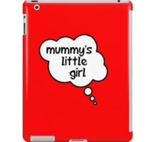 Pregnancy Message from Baby - Mummy's Little Girl by Bubble-Tees.com iPad Case/Skin