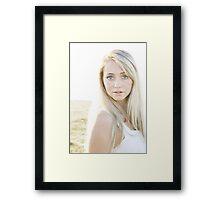 Portrait in the sun Framed Print
