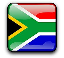 South African Flag, South Africa Icon Photographic Print