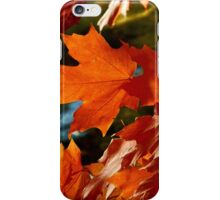 Fall leaves in the wind iPhone Case/Skin