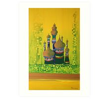 Jungle Castles Art Print