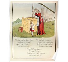 The Glad Year Round for Boys and Girls by Almira George Plympton and Kate Greenaway 1882 0062 Dear Mother Poster