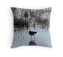 """"""" Wet Land Birds"""" Throw Pillow"""