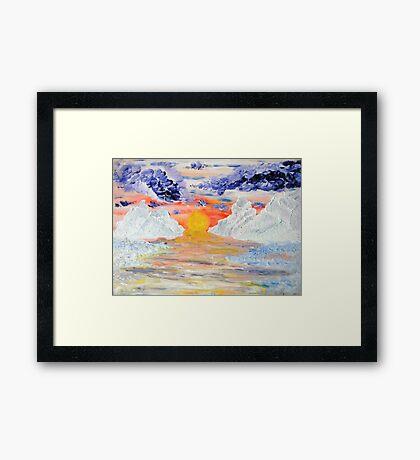Arctic Sun Framed Print
