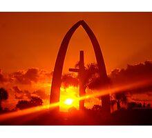 Orange Sky On The Cross Photographic Print