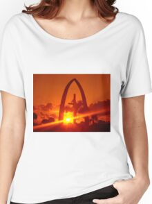 Orange Sky On The Cross Women's Relaxed Fit T-Shirt