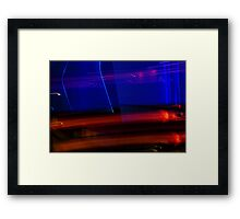 Red Blue and Black Framed Print