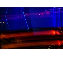 Red Blue and Black Photographic Print