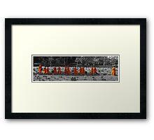 The Orange March Framed Print