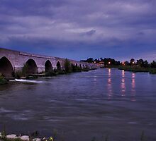 Loire-Bridge after sunset by Adri  Padmos