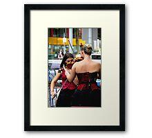 Corset Concert Framed Print