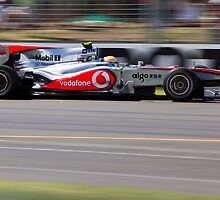 Lewis Hamilton Flying by Paul Golz