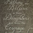 Sweet quote for Father and Daughter handwritten by Melissa Goza