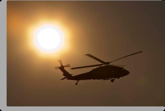 Blackhawk at sunset by Paul Golz