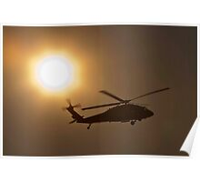 Blackhawk at sunset Poster