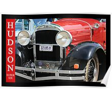 Gleaming Red Hudson Poster
