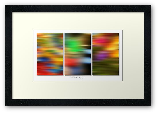 Galactic Voyage (Triptych) by George Parapadakis (monocotylidono)