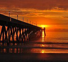 Orange Sky At Sunrise by Bob Sample