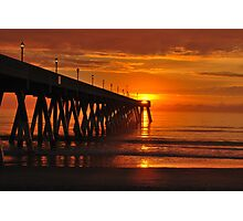 Orange Sky At Sunrise Photographic Print