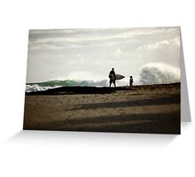 At the beach... Greeting Card