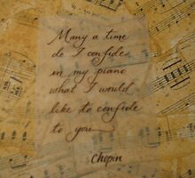 Chopin quote calligraphy art by Melissa Goza
