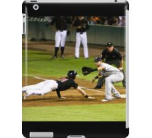 Baseball - Pick Off Move to First Base iPad Case/Skin