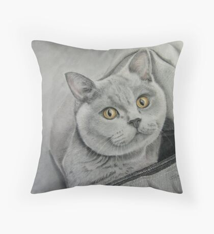 Amber in a bag Throw Pillow