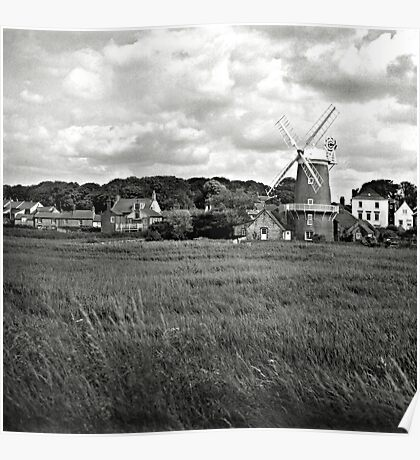 The windmill at Cley-Next-the-Sea, Norfolk, UK Poster