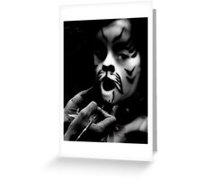 Face Painter (BW) Greeting Card