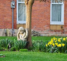 Flower garden guardian angel by mltrue