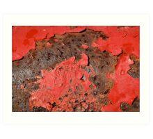 Red peeling away!  Art Print