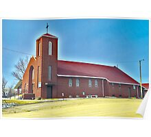 St. Francis Xavier Roman Catholic Church, Circle Montana Poster