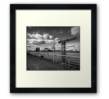 Glasgow - River Clyde Waterfront. Framed Print