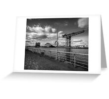Glasgow - River Clyde Waterfront. Greeting Card