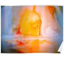 Landscape Abstract..Arctic Sun Poster