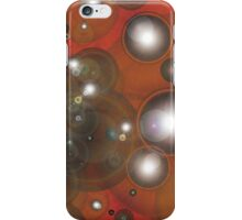 Bubbles red iPhone Case/Skin