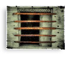 Rustic & Rusty Bars Canvas Print