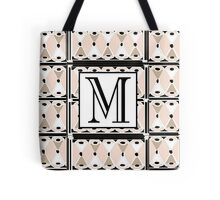 1920s Pink Champagne Gatsby Monogram letter M Tote Bag