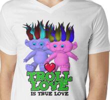 Troll Love is True Love Mens V-Neck T-Shirt
