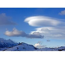 Wave Cloud Over Jackson Hole Photographic Print