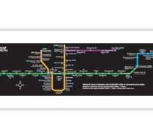 TTC subway map Sticker