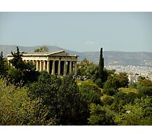 Continuous worship (Temple of Hephaestus, Athens) Photographic Print