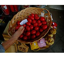 Easter eggs at the Athens market Photographic Print