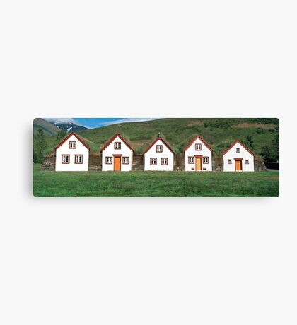 Old historic houses, Iceland Canvas Print