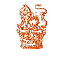 Lion & Crown Heraldry Blazon Photographic Print
