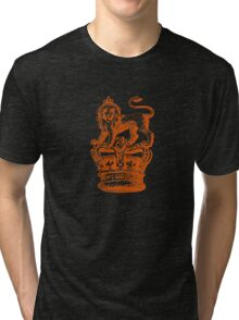Lion & Crown Heraldry Blazon Tri-blend T-Shirt