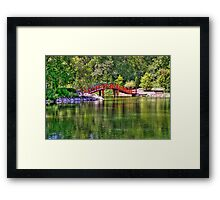 Pond Bridge (HDR) Framed Print