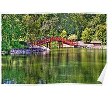 Pond Bridge (HDR) Poster