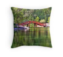 Pond Bridge (HDR) Throw Pillow