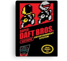 Super Daft Bros. Canvas Print
